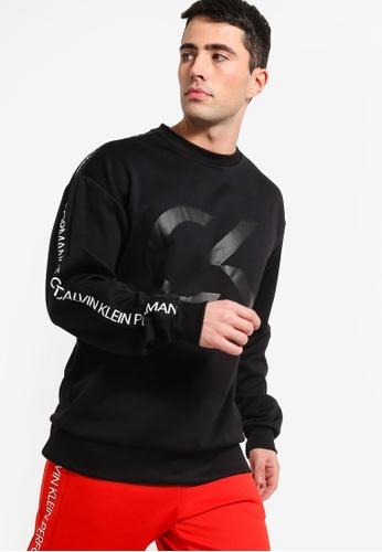 5682cf676b Calvin Klein black Sport Tape Pullover - Calvin Klein Performance  D59A7AA3F5E7F9GS 1