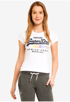 c83710d9b0a Superdry white Premium Goods Puff Entry Tee 6A075AACF3220FGS 1