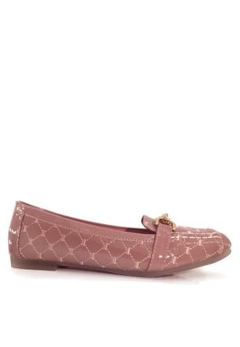 Twenty Eight Shoes 粉紅色 舒適菱格車縫線平底鞋 VL309978 08AE9SH10569D2GS_1
