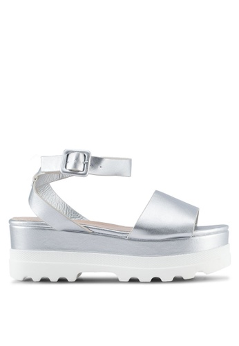 Something Borrowed silver Ankle Strap Platform Sandals A1873SH939A35DGS_1