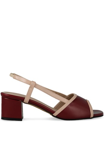 MAYONETTE red Mayonette Nola Square Heels - Maroon 622E0SHA8F8746GS_1