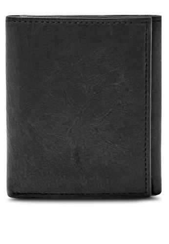 Fossil black Fossil Ingram RFID Trifold Wallet Ml3785001 FO164AC86CENMY_1