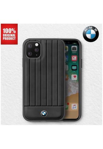 "BMW black BMW - Leather Lines Back Case / Casing IPhone 11 Pro 5.8"" - Black 4B14FES1335F96GS_1"