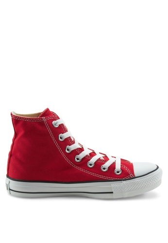 Converse red Chuck Taylor All Star Canvas Hi Sneakers CO302SH64WHFSG_1