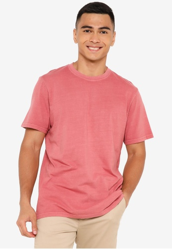Rip Curl red Plain Wash Tee A989AAA6FF6C10GS_1
