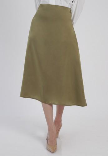 DARA green Elsie Skirt in Olive Green 723B0AA06A51EFGS_1