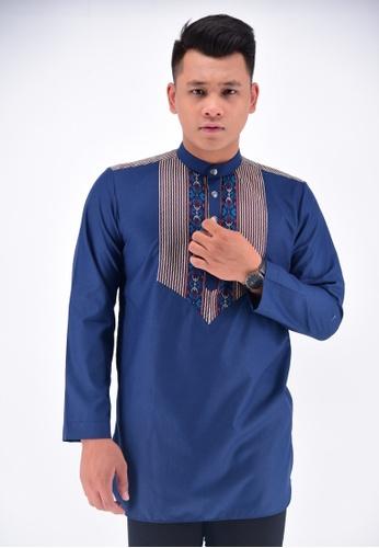 batik house my blue KURTA BATIK BHKLC13-071 (DARK BLUE) 46D78AACE06B65GS_1
