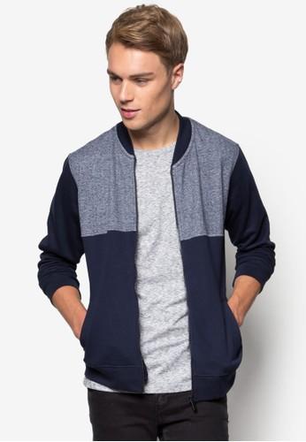 色塊羅紋棒球外套, 服飾, 休閒外套尖沙咀 esprit及風衣