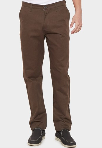 YEGE brown YEGE Long Chinos Twill HUDSON F3F92AA3A982CCGS_1