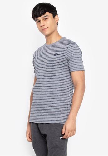 Nike grey As M Nsw Tee Striped Lbr 2 659A7AA4069192GS_1