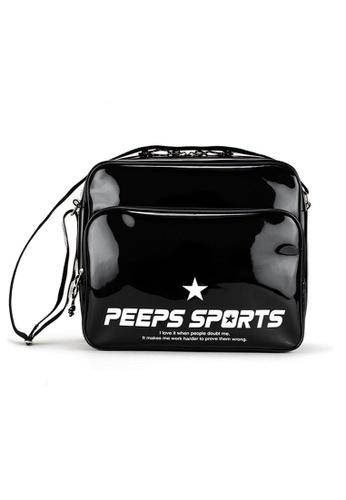 Peeps black Retro 80 Enamel Cross Bag 0AA2EACD8BAA21GS_1