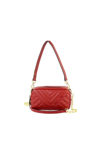 Valentino Rudy red Valentino Rudy Italy Ladies Chevron 2 Ways Shoulder bag 040728-001 B1159AC05ED1A8GS_1