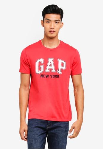 GAP red New York City T-Shirt C893DAA900BEE6GS_1