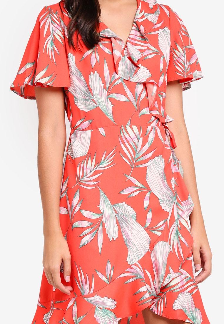 Maharete Dress Maharete Vero Short Wrap Poppy Moda Red qxfBwUa