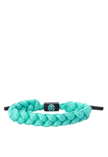 Rastaclat black and blue Shoelace Bracelet: Mint Chip RA072AC0JYOLPH_1