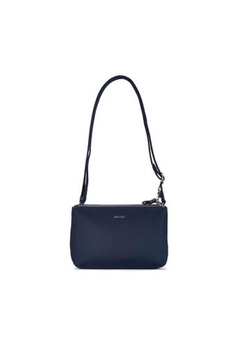Pacsafe navy Pacsafe Stylesafe Anti-Theft Double Zip Crossbody Bag (Navy) 72613AC1E92EEDGS_1
