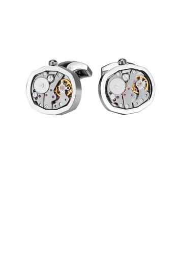 Glamorousky silver Fashion and Elegant Watch Mechanical Movement Cufflinks 56ECAACA5D8AB6GS_1