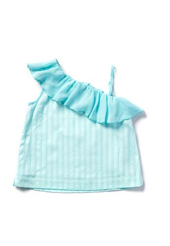 Vauva green Vauva Hauska Girls Scollop Shoulder Design Top - Green 4D77EKAA26069DGS_1