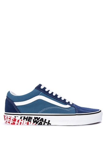 Vans blue OTW Sidewall Old Skool Sneakers 4B9DASHED87397GS_1
