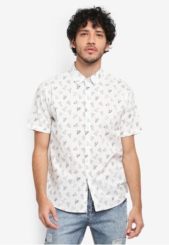 JAXON white Pizza Aop Shirt B8159AAAB574A2GS_1