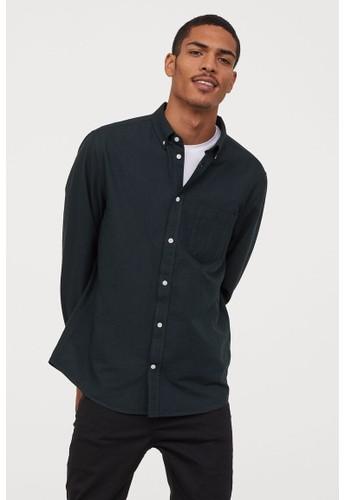 H&M green Oxford shirt Regular Fit 8E1F0AA2CB529EGS_1
