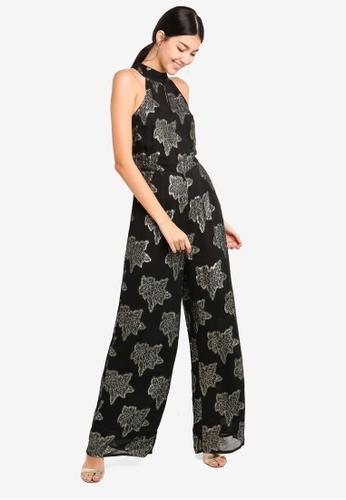 c8b543aad486 Buy Miss Selfridge Black Lurex Floral Jumpsuit Online | ZALORA Malaysia