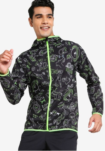 Under Armour 黑色 Run Hundred Packable Jacket 6C3C6AA3FC4CD1GS_1