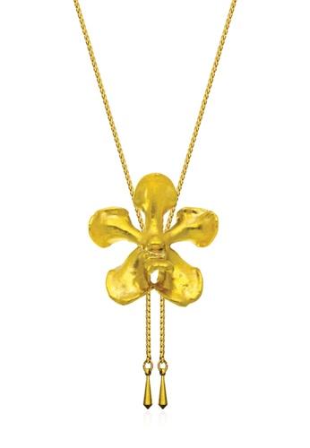 RISIS gold RISIS 24K Gold Plated Natural Vanda Mariae Orchid Slider F618AACAC6D28DGS_1