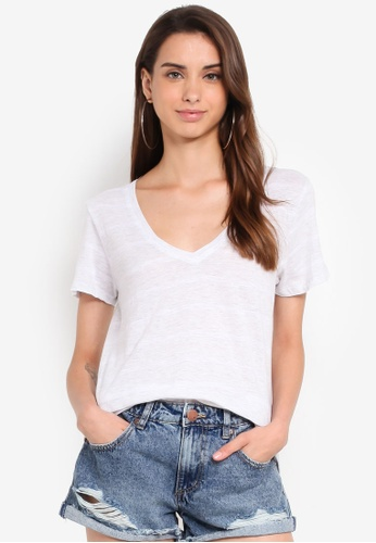 Cotton On white The Deep V Tee 9B541AACCA5A19GS_1