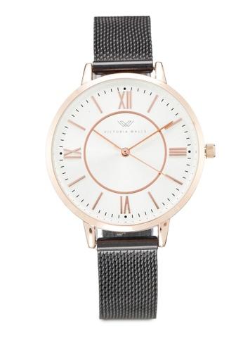 Victoria Walls Watches black Designer Watch-Elegant Milanese Mesh Strap 8ADD4AC37635E7GS_1