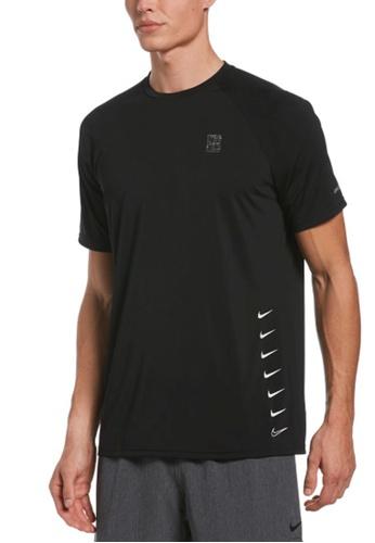 Nike black Nike Swim Men's Swoosh Short Sleeve Hydroguard D8BD8US262C3F5GS_1