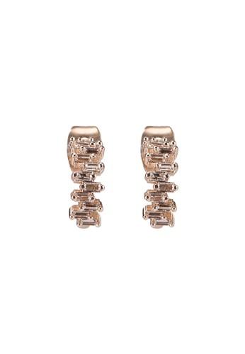 Forever New silver Li CZ Baguette Stone Hoop Earrings DFC1EAC0C01F10GS_1