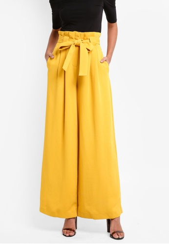 River Island yellow Paperbag Wide Leg Trouser 2AD24AA157B210GS_1