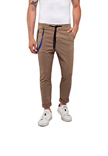 REPLAY brown and green REPLAY TITANIUM relaxed fit sport chino A892DAA90105E4GS_1