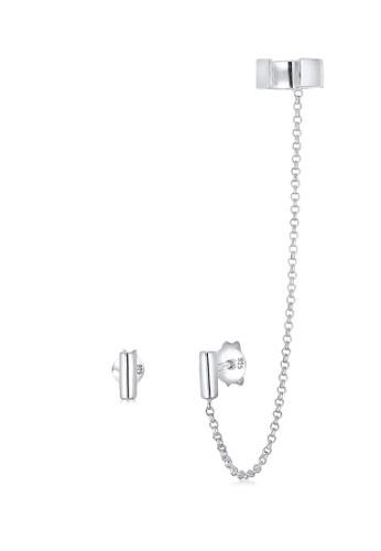 Elli Germany silver 925 Sterling Silver Anting Ear Cuff Asymmetrical Geo Minimal Silver AF9CCAC0991D47GS_1