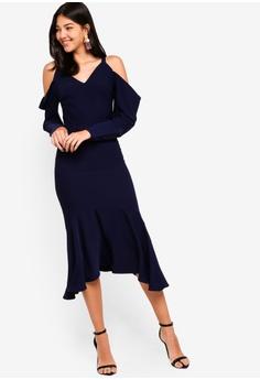 778de2f03e08 27% OFF Lavish Alice Draped Cold Shoulder Floaty Midi Dress S  142.90 NOW  S  103.90 Sizes 12