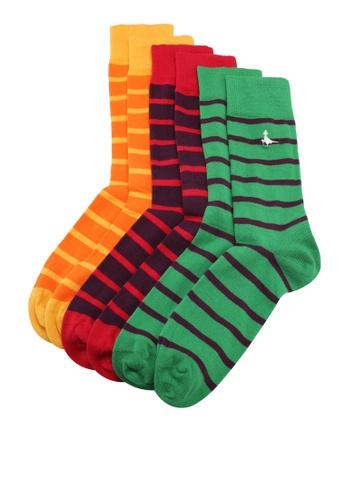 Jack Wills multi Thormarton 3 Pack Socks 03AE0AA950D36FGS_1