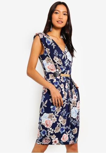 78322a85e29 Shop Mela London Rose Belted Dress Online on ZALORA Philippines