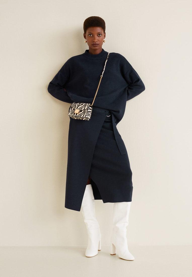Sweater Knit Chunky Mango Mango Navy Chunky nv0WaxU