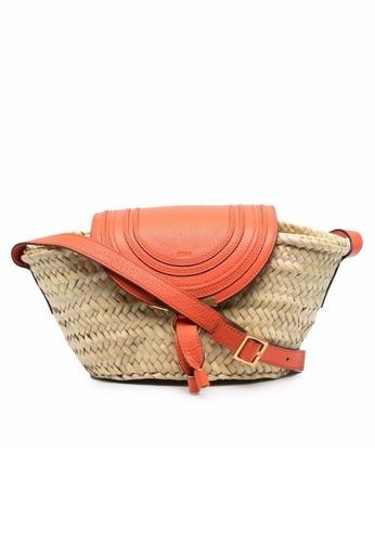 Chloé beige Chloe Small Marcie Bucket Bag in Radiant Orange 0CF0CACC72F7ACGS_1