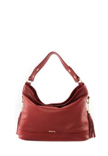 Sembonia Red Leather Hobo Bag Se598ac06juvmy 1