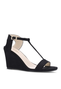 fc6949761f2d 46% OFF ZALORA T-Bar Wedge Sandals RM 102.85 NOW RM 55.70 Sizes 35