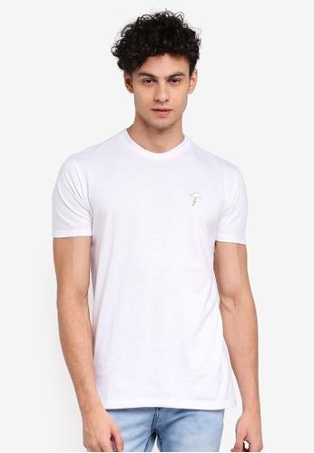 Penshoppe 白色 寬鬆刺繡T恤 93330AAE778323GS_1