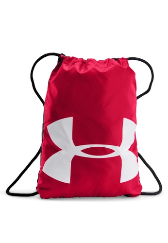 Under Armour black and red UA Ozsee Sackpack UN337AC10ANPMY_1