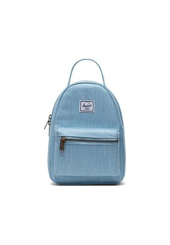 Herschel blue Herschel Nova Mini Backpack - Light Denim Crosshatch 14DF9AC5E4EE04GS_1
