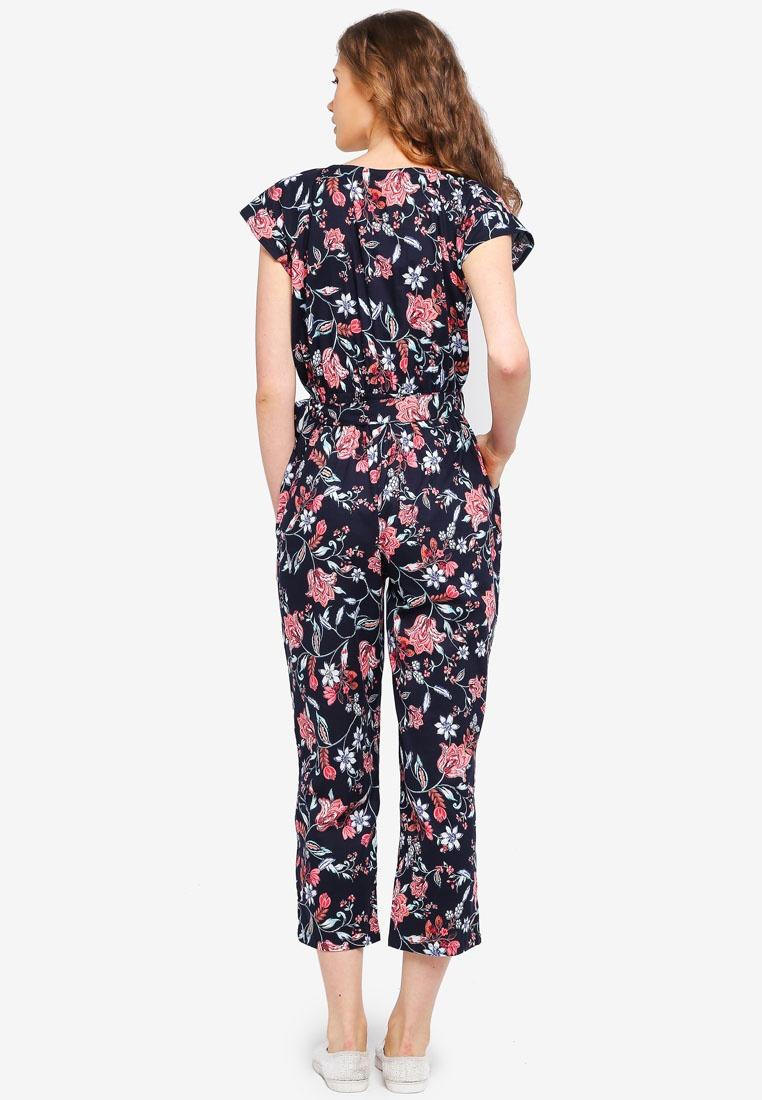 Blue Floral Navy Perkins Dorothy Navy Print Jumpsuit qYnUzO