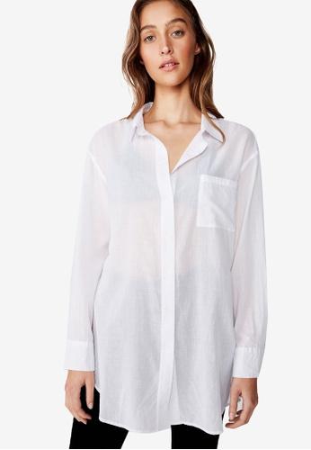 Cotton On white Savannah Oversize Resort Shirt 3EFA1AA7519BB7GS_1