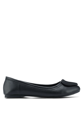 Mimosa black Faux Leather Flats 320E5SH38477F3GS_1