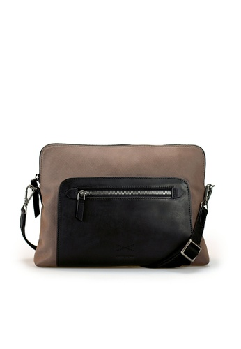 Gnome and Bow black and brown and purple Aramis Crossbody Clutch 3465BACEB39761GS_1