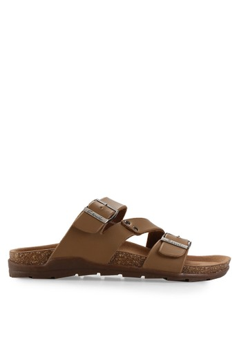 CARVIL brown Man Sandal Footbed Duke-03M CA566SH82EFHID_1